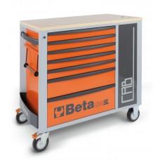 Количка за инструменти Beta C24SL-CAB, 7 чекмеджета, страничен кабинет