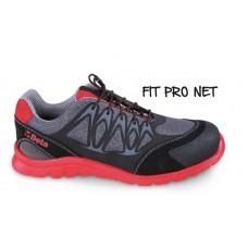 Обувки от мрежеста материя Beta 7340R, повишена проветривост, с PU вложки и велурено подсилване в областта на бомбето