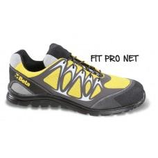Обувки от мрежеста материя Beta 7340Y, повишена проветривост, с PU вложки и велурено подсилване в областта на бомбето