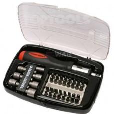 Black+Decker Комплект монтажен, накрайници и държач за отвертка, отвертка 40 части, A7062