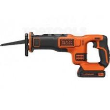 18V Реципрочен трион - 1x 1.5Ah Батерия + 400mA Зарядно + 1x 15cm Нож Black+Decker BDCR18
