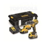 Винтоверт акумулаторен в здрав куфар и 3 x 5Ah батерии, DeWALT DCD791P3K