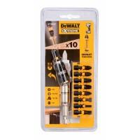 DeWalt Комплект битове за ударен винтоверт 9 бр. и магнитен накрайник за работа под 20 градуса - DT70518T