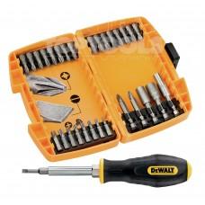 Комплект накрайници битове, магнитен държач и държач отвертка Dewalt DT71506