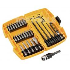 Комплект накрайници битове, свредла и магнитен адаптор Dewalt DT71507