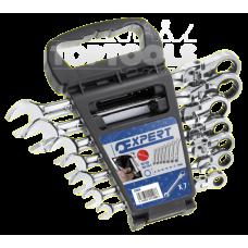 Ключ звездогаечен с тресчотка с чупещо рамо, комплект Expert E111108 8-19 мм., 7 бр.
