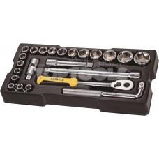 Метричен модул 1/2 вложки с тресчотка, 6-стен, Stanley STMT1-74173, 23 части