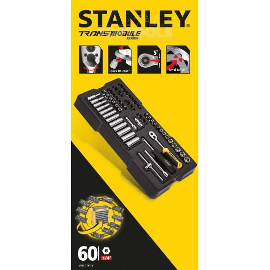 Метричен модул 1/4 вложки с тресчотка, Stanley STMT1-74175, 60 части